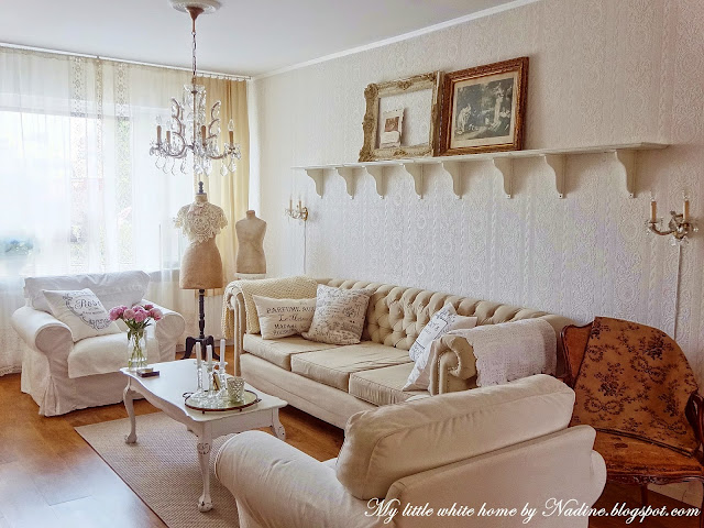 My Little White Home by Nadine: Woonkamer make-over ~ Living room ...