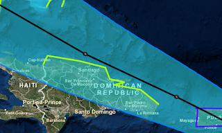 Tropischer Sturm Erika Dominikanischer Republik