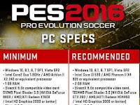 Nih Sob Spesifikasi Resmi PES 2016 dari Konami