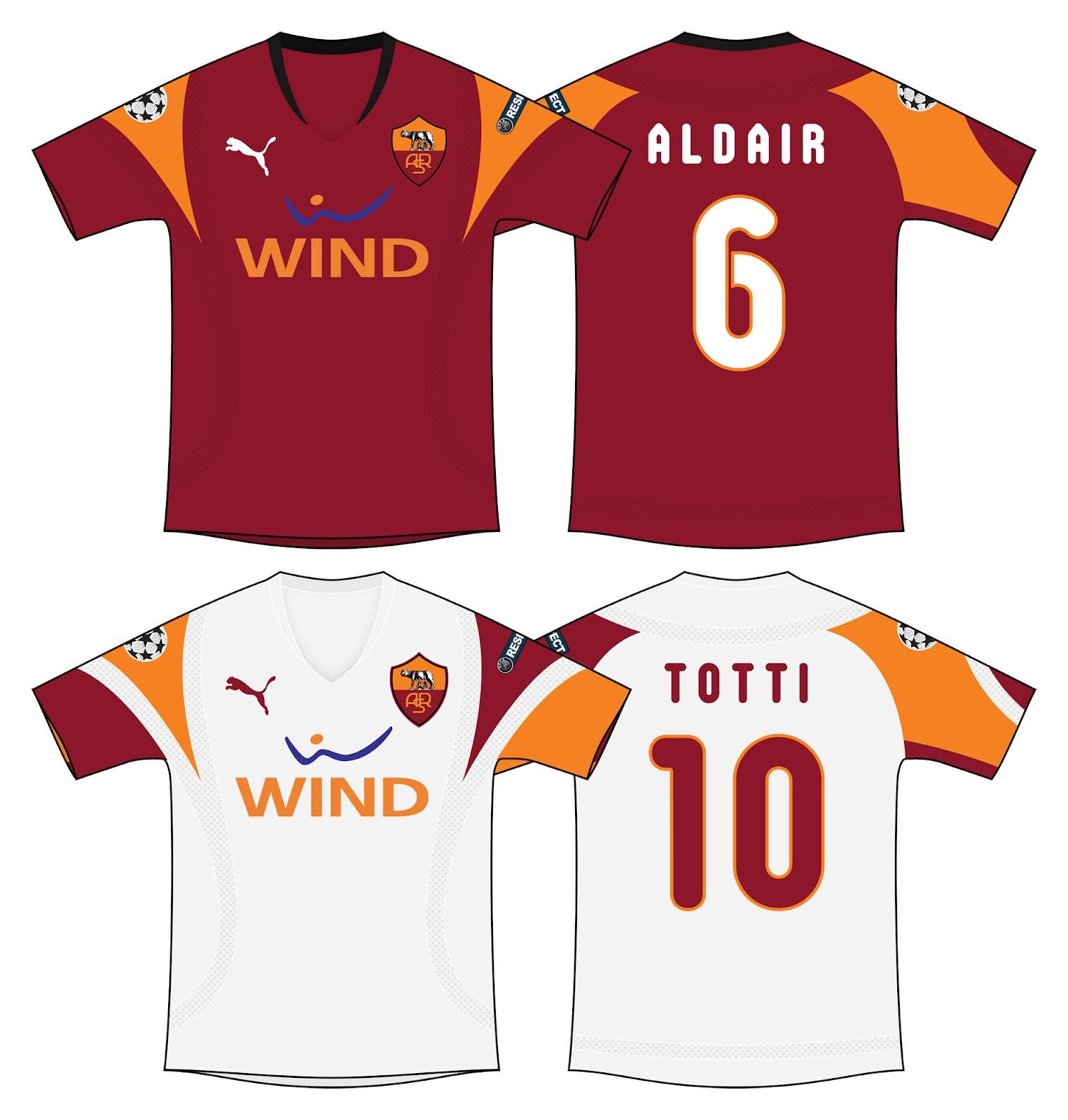 Kits Trikot Camisas Maillot  AS Roma - Puma 2d7529185cbb2