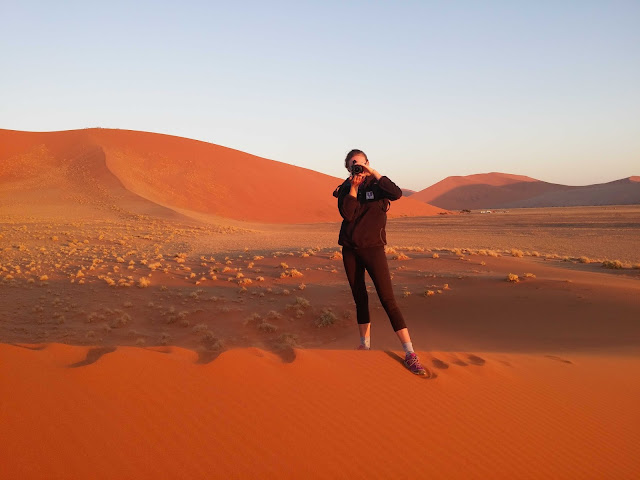 Photographer in action in Sossusvlei