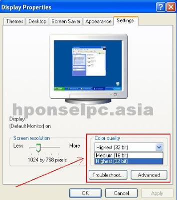 Cara memperbaiki monitor error