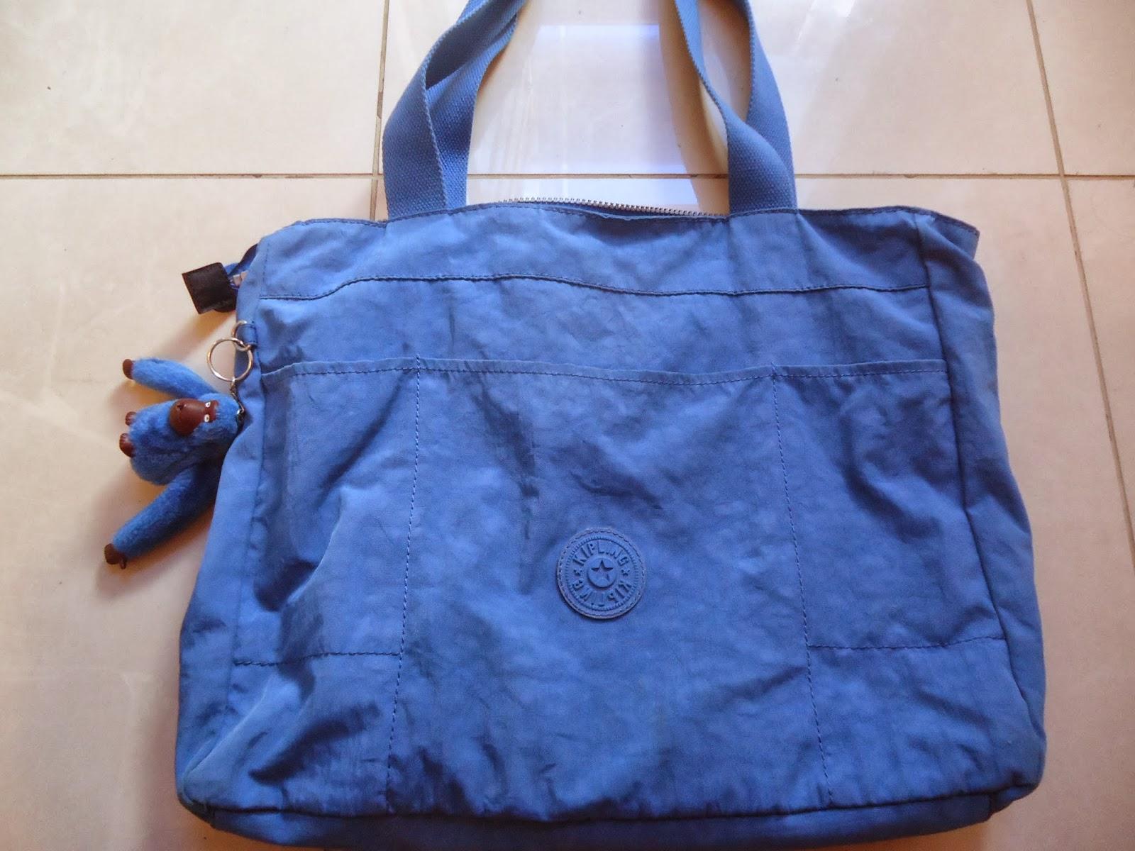 Bolsa De Ombro Kipling : Bazar desapega bolsa kipling de ombro azul