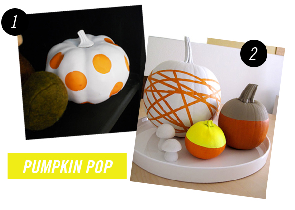 These fantastic ideas of how to modernize a pumpkin for Halloween or Fall