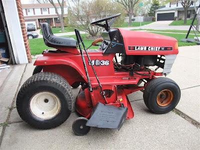 fixed, repaired, riding mower, lawn mower, lawn chief, spark plug