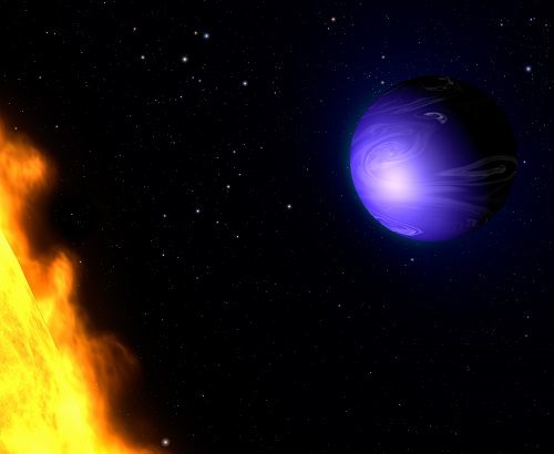 Artist conception of an exoplanet