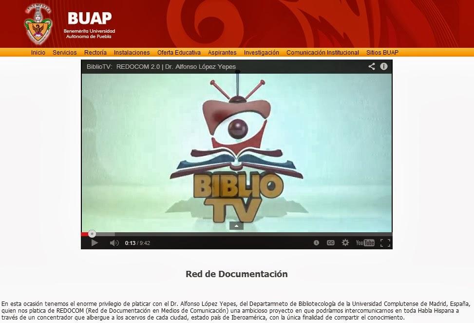 Formación: seminarios...(México-Puebla) Servicio Documentación Multimedia