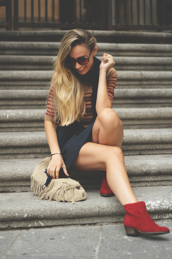 Sorteo, blog de moda, fashion blogger, outfit, autumn look, autumn trend, stripes, pilar burgos, pull&Bear, Street style,