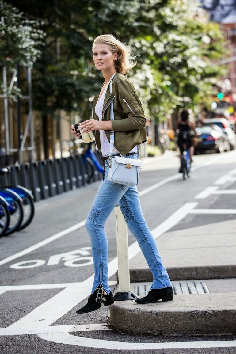 toni garrn wears her closed designs out in nyc