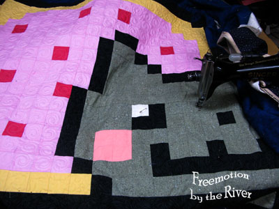 Quilting the Nyan Cat quilt