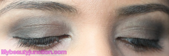 Smoky eye makeup with theBalm N*de'Tude palette