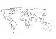 Primero miremos el mapa del mundo. Fíjate en la zona de color verde
