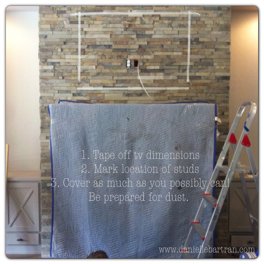 made how to mount a flat screen tv on a stone fireplace diy