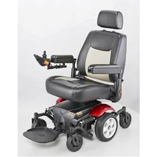 Red Base Merits Vision Sport Power Chair