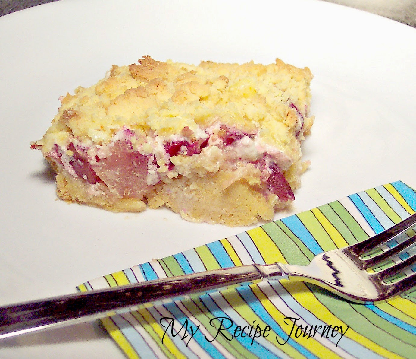 Cream Cheese Plum Crumble - From Boxed Cake Mix