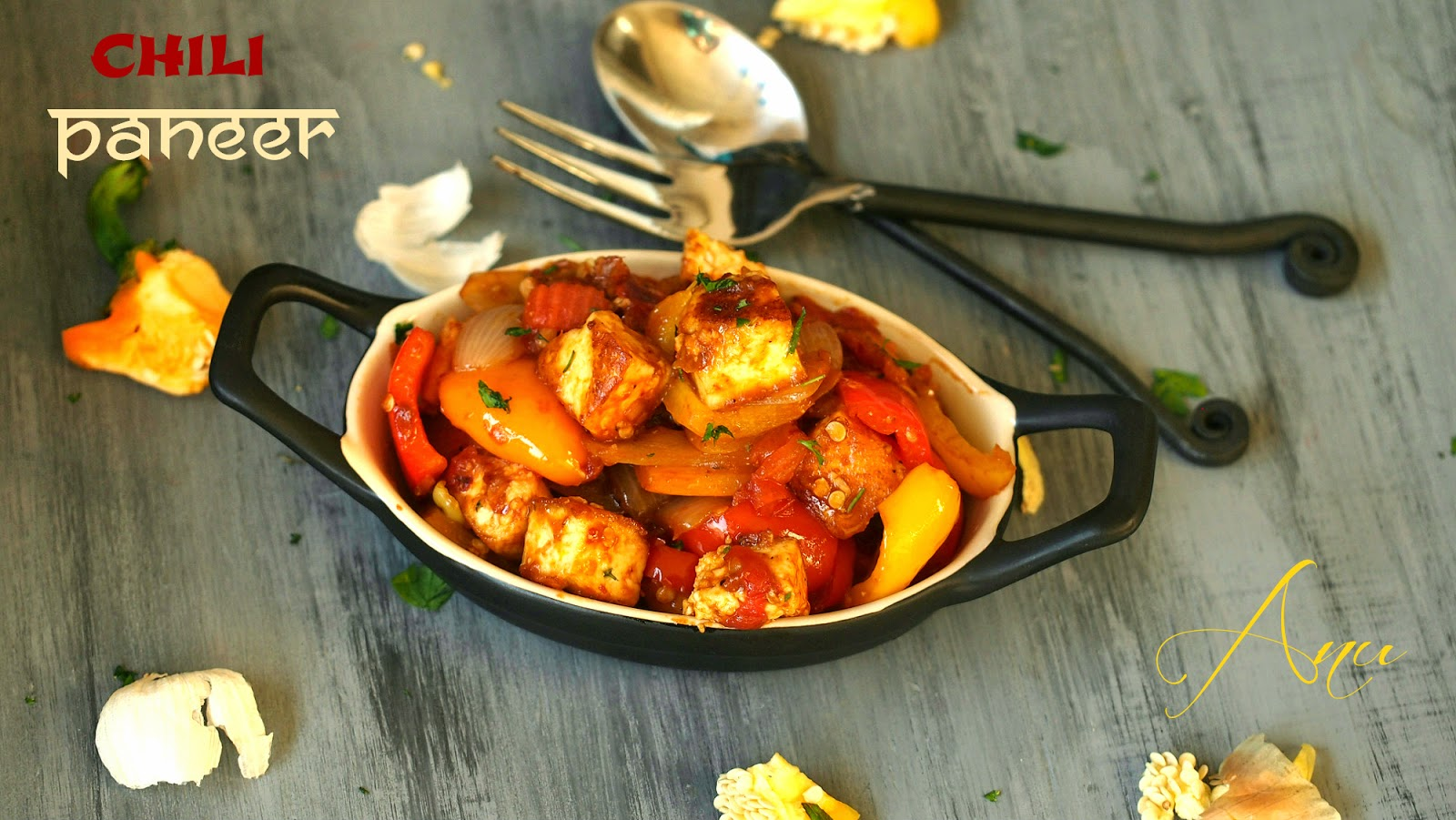 chili paneer / bell pepper cottage cheese