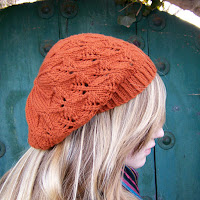 Falling Leaves Beret Side View