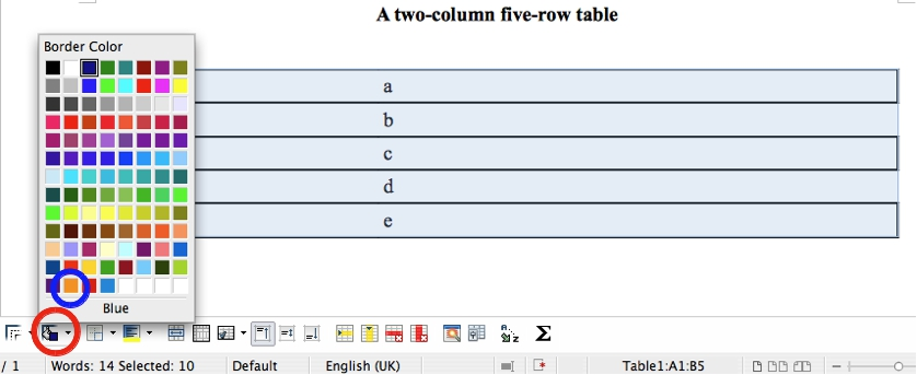 Andreas 39 technical tidbits libreoffice writer customize for Html table border color