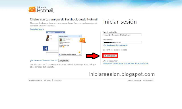 Hotmail iniciar sesion