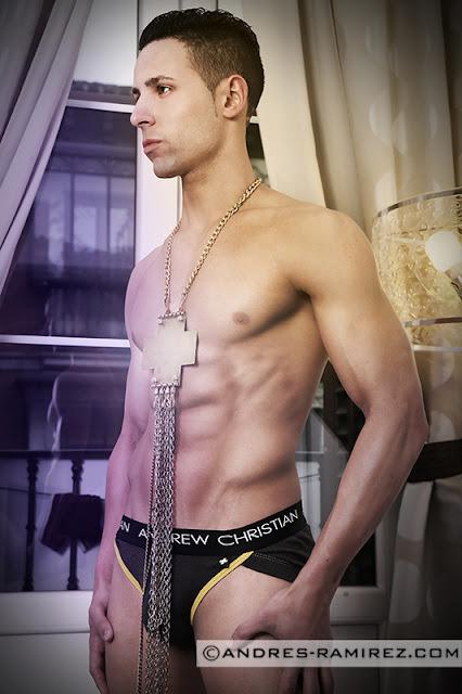 Sexy Damian Paris - Andrew Christian underwear