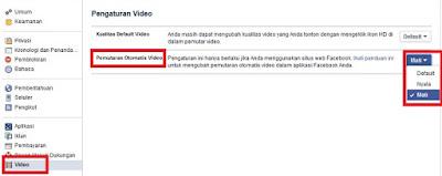 Cara Mematikan Autoplay Video Facebook