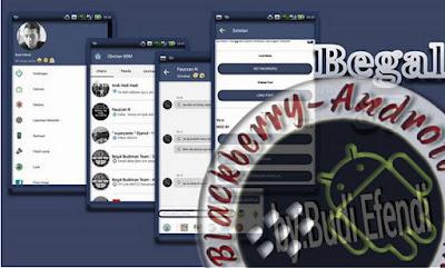 BBM Mod Unik Terbaru Tema Retrotika Blue v2.10.0.30 Apk