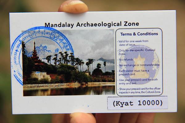 Ticket de entrada combinada de Mandalay