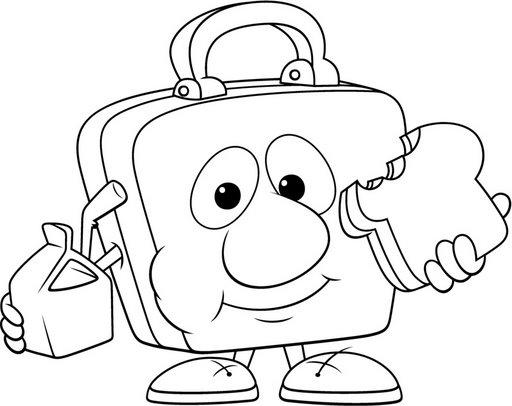 Lonchera para colorear - Dibujos Escolares
