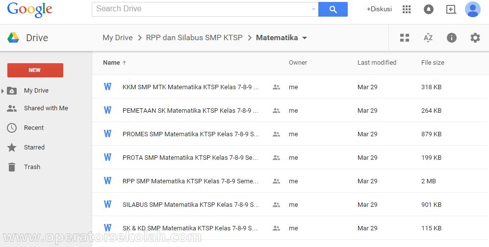 RPP KTSP Matematika SMP Kelas 7,8,9 semester 1 dan 2
