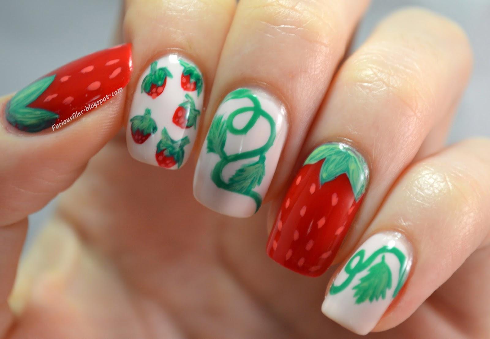 fruit red strawberries leaves vine