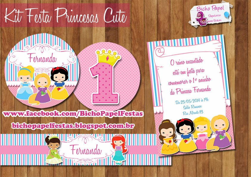 kit festa princesas cute