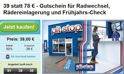 Pitstop-Gutschein bei Groupon: Radwechsel, Einlagerung und Frühjahrscheck für 39 Euro
