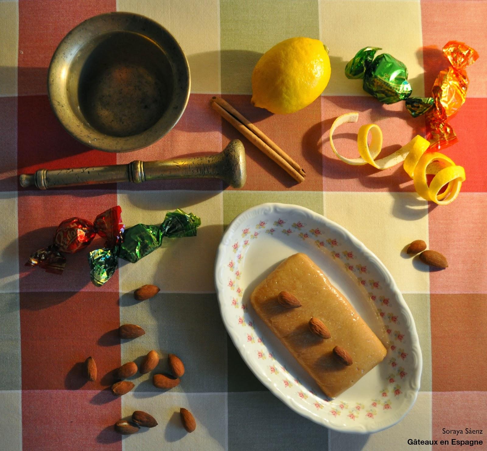G teaux en espagne recette de turron de jijona turron mou - Recette tuiles aux amandes masterchef ...