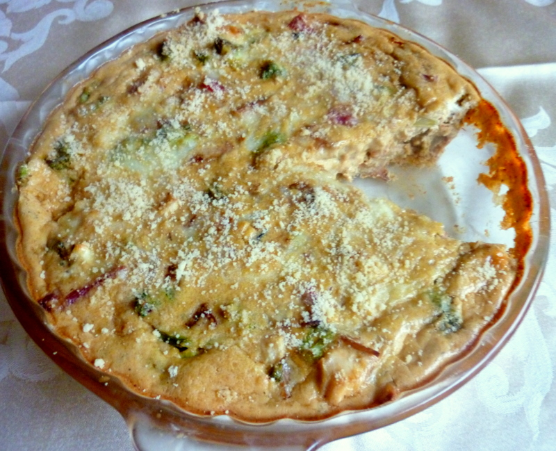 ... LOW-CARBING BY JENNIFER ELOFF: CHICKEN, BACON AND BROCCOLI QUICHE