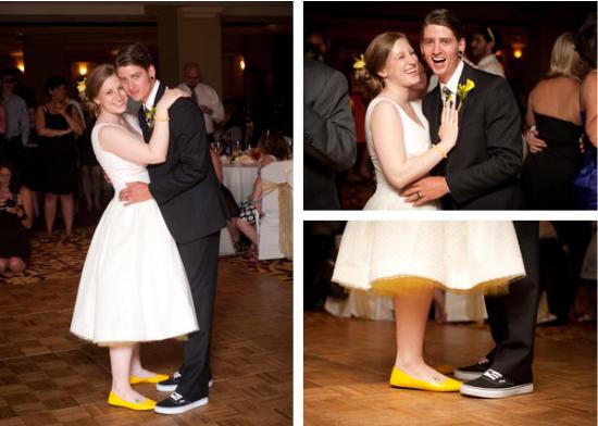 Sposa con le ballerine