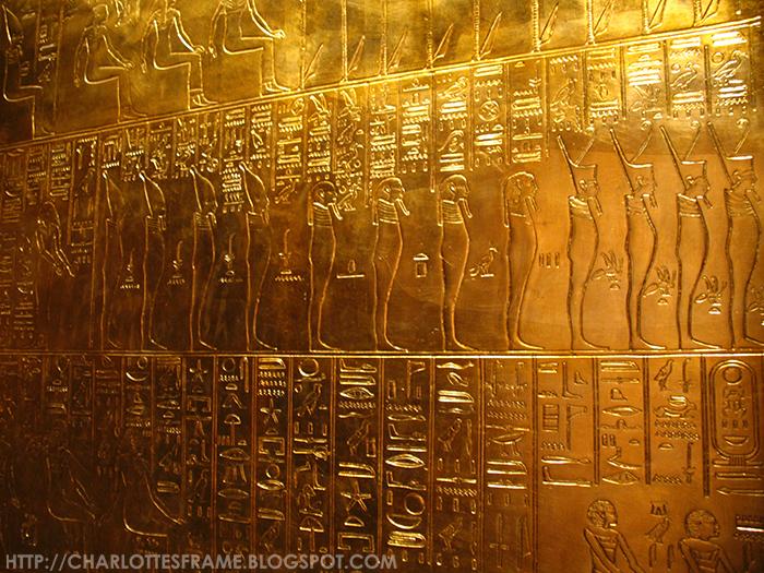 The walls of Tutankhamun's tomb