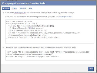 Cara membuat rekomendasi Bar Facebook di Blog