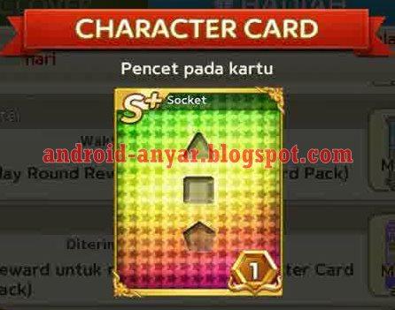 Kartu Karakter S+ Socket Get Rich