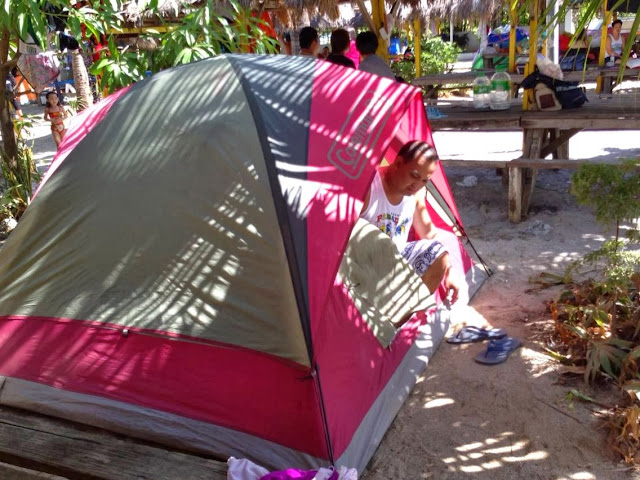 Family camping at Ocean View Resort Olongapo City