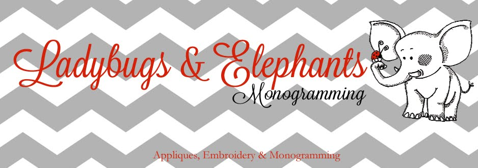Ladybugs & Elephants Monogramming