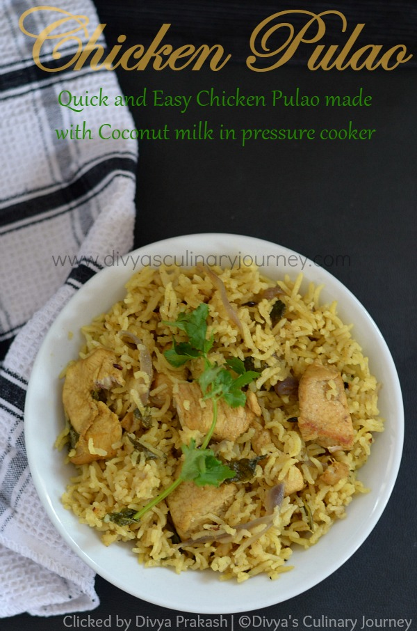 easy chicken pulao recipe