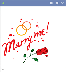 Marry me Facebook emoticon