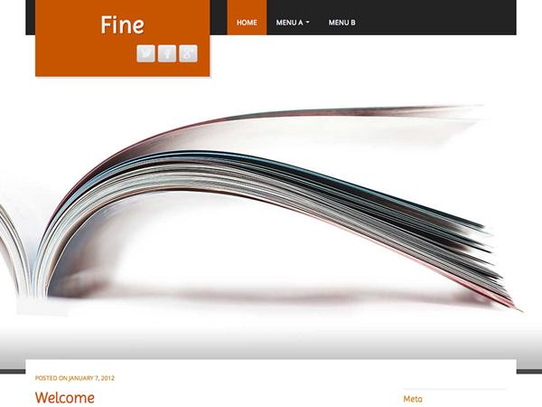 Fine Free WordPress theme 2014