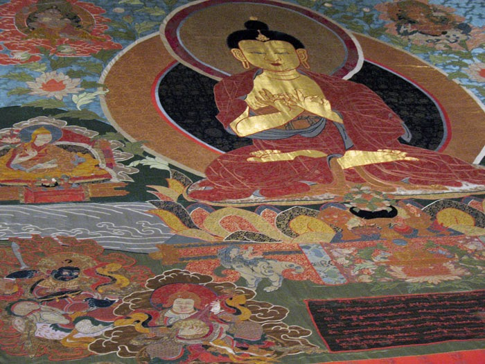 Detail of thangka