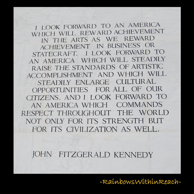 photo of: Kennedy quote on the Arts, Kennedy Center for the Arts