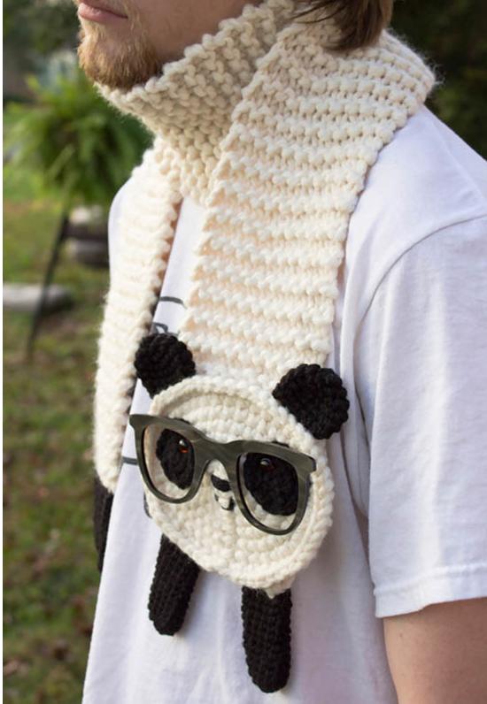 örgü panda modeli