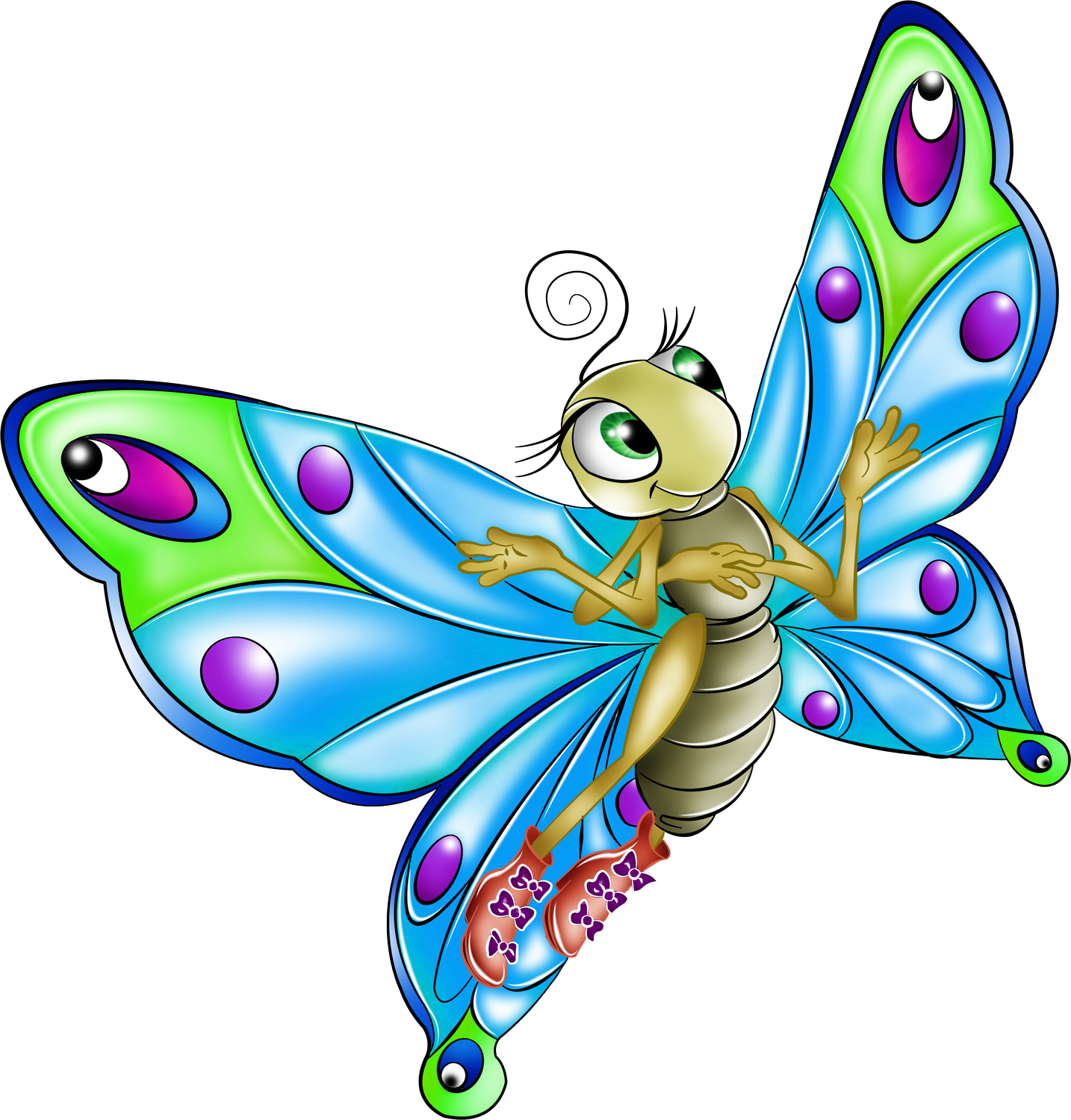 animated butterfly clipart free - photo #48