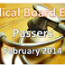 Board Exam Passers February 2014 Physician (Medicine) board exam