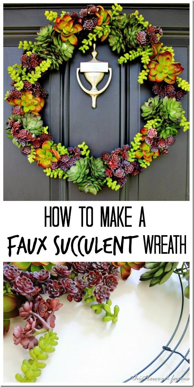 http://www.thistlewoodfarms.com/faux-succulent-wreath-and-the-rest-of-the-story