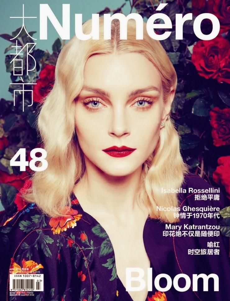 Actress, Model @ Model @ Jessica Stam by Sofia Sanchez & Mauro Mongiello for Numero China, April 2015